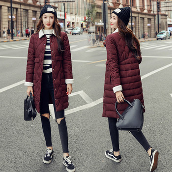 γυναικείο μακρύ μπουφάν Slim μοντέλο σε διάφορα χρώματα