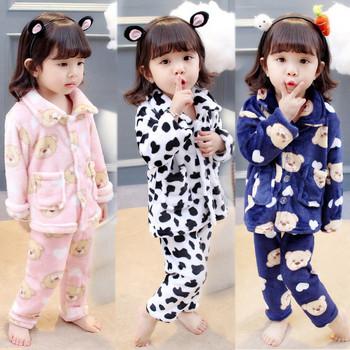 Детска пухена пижама от две части в няколко цвята