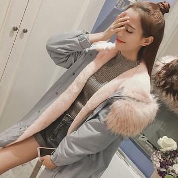 Γυναικείο μοντέρνο μπουφάν σε ανοιχτό χρώμα