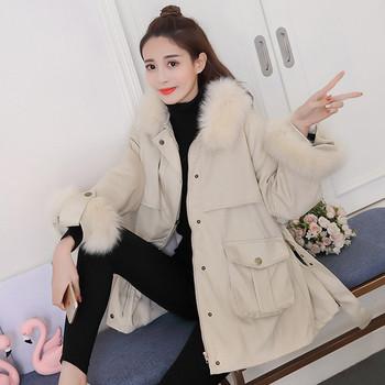 Κομψό  γυναικείο μπουφάν ευρύ  μοντέλο