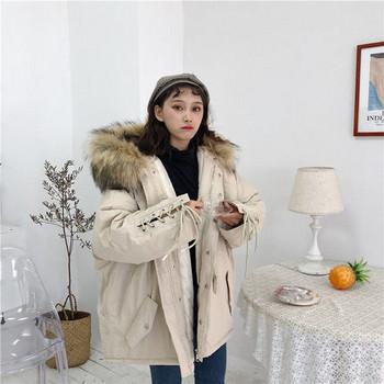 Γυναικείο μπουφάν της μόδας - Ευρύ-λευκό μοντέλο