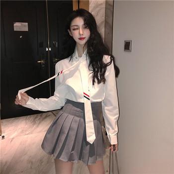 Нова стилна дамска риза в бял цвят