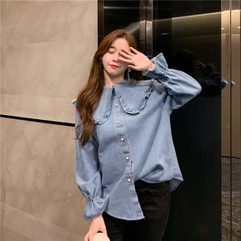 Стилна дънкова дамска риза