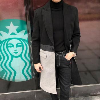 ΝΕΟ μοντέλο κομψό μακρύ ανδρικό παλτό σε μαύρο χρώμα - Badu.gr Ο ... 319e57a6b6d
