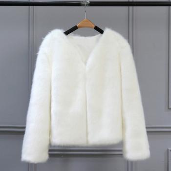 Модерно дамско палто къс модел в няколко цвята