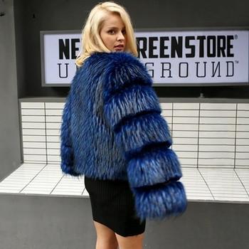 ХИТ Актуално дамско палто къс модел в черен и син цвят