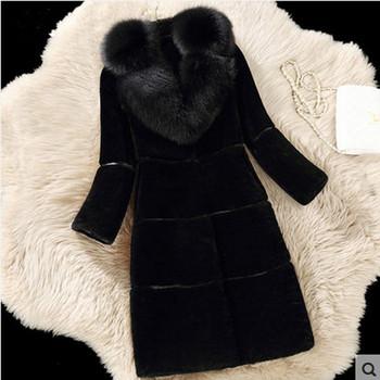 Модерно дамско палто с V-образна яка дълъг модел в три цвята