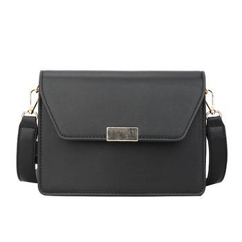 Стилна дамска чанта от еко кожа в черен, кафяв, бял и червен цвят