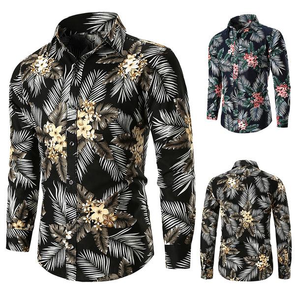 Μοντέρνο ανδρικό πουκάμισο με floral τύπωμα σε δύο χρώματα - Badu.gr Ο  κόσμος στα χέρια σου 233f21c7b8a
