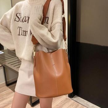 Μοντέρνα γυναικεία τσάντα σε τέσσερα χρώματα από οικολογικό δέρμα
