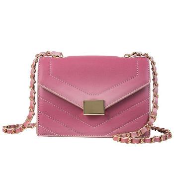 Модерна дамска чанта от еко кожа в пет цвята