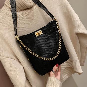 Νέο μοντέλο γυναικεία τσάντα με λαμπερά μοτίβα σε δύο χρώματα