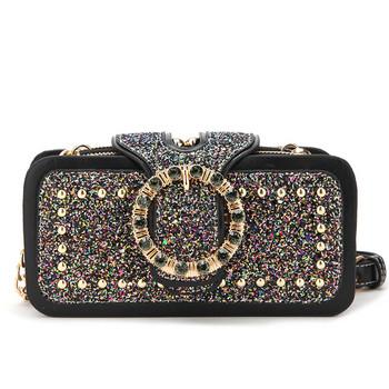 НОВА дамска чанта тип портмоне с камъни в два цвята