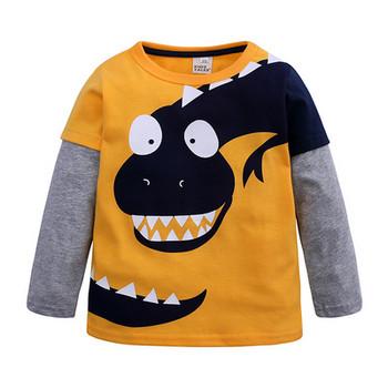Μοντέρνα παιδική μπλούζα για αγόρια σε λυκό και κίτρινο χρώμα - Badu ... 9f04eee386c