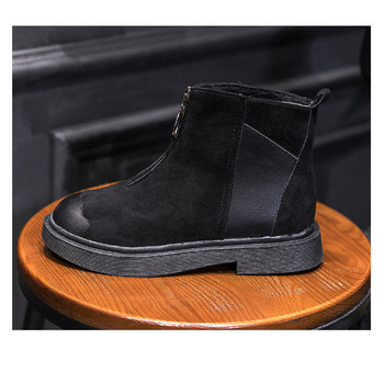 Γυναικείες μπότες σε δύο χρώματα - γκρι και μαύρο