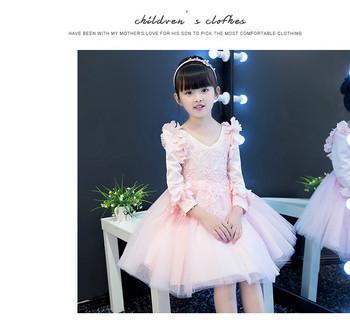 Κομψό παιδικό φόρεμα με δαντέλα και στοιχεία 3D σε μπλε και ροζ χρώμα f6cfd67fe13