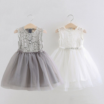 Παιδικό φόρεμα με δαντέλα διακοσμημένο με πέτρες σε δύο χρώματα ... 0c38df7504a