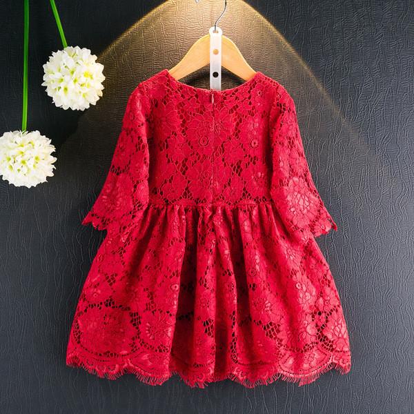 Παιδικό φόρεμα με δαντέλα σε κόκκινο χρώμα - Badu.gr Ο κόσμος στα χέρια σου e1c79772b2d