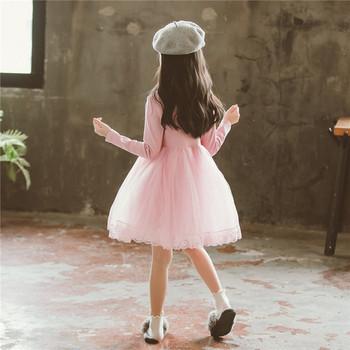 Κομψό παιδικό φόρεμα για κορίτσια με τούλι σε ροζ χρώμα - Badu.gr Ο ... 9ba990814d0