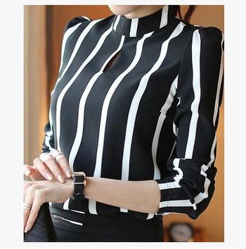 ХИТ Раирана дамска риза с О-образна яка в два цвята