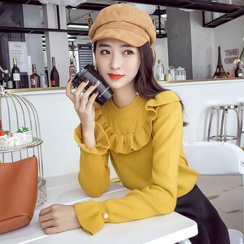 Μοντέρνα γυναικεία μπλούζα με μακριά μανίκια σε διάφορα χρώματα ... f0fc9a527f3