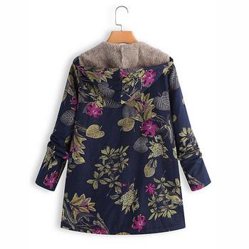 Λεπτό γυναικείο μπουφάν με floral μοτίβα σε τρία χρώματα