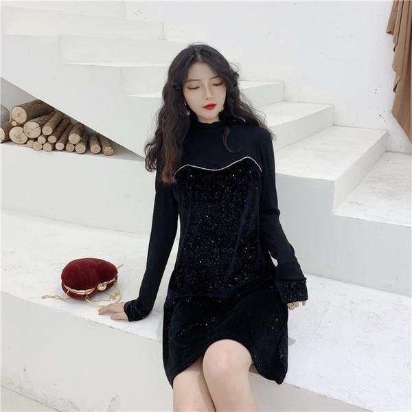 Μοντέρνο γυναικείο φόρεμα φαρδύ σχέδιο με μακρύ μανίκι - Badu.gr Ο κόσμος  στα χέρια σου a00b221bc5a
