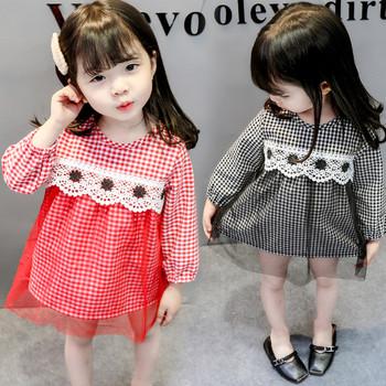 Παιδικό μοντέρνο μακρυμάνικο φόρεμα σε μαύρο και κόκκινο χρώμα ... ffc3cf66e51