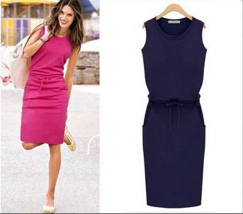 Спортно-ежедневна дамска рокля в три цвята