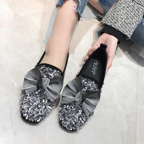 6d3119b8dc7 Модерни дамски обувки с декоративни камъни в два цвята - Badu.bg - Светът в  ръцете ти