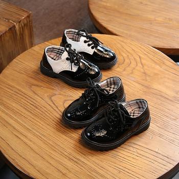 Καθημερινά παιδικά παπούτσια για κορίτσια οικολογικού δέρματος σε μαύρο  χρώμα d91815948f2