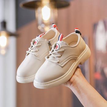 Μοντέρνα παιδικά παπούτσια σε κρέμ και μαύρο χρώμα για κορίτσια ... a556bd9d0e6