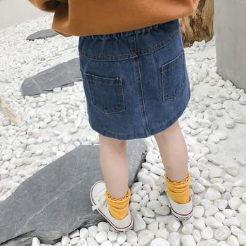 Παιδική φούστα denim για κορίτσια με κουμπιά - Badu.gr Ο κόσμος στα ... 84babf69291