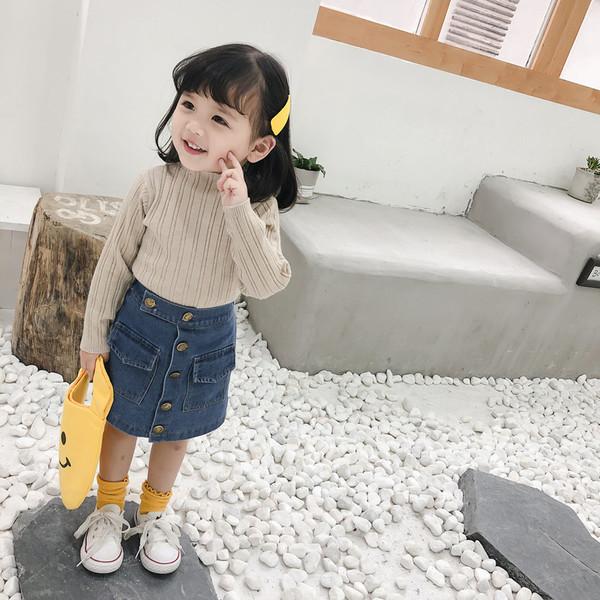 Παιδική φούστα denim για κορίτσια με κουμπιά - Badu.gr Ο κόσμος στα χέρια  σου e2bef19dfc4