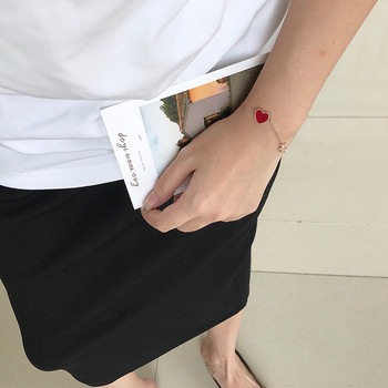 Дамска модерна гривна с декоративни камъни-два цвята