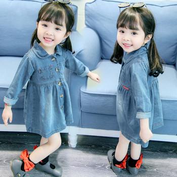 Μοντέρνο παιδικό τζιν φόρεμα με κουμπιά - Badu.gr Ο κόσμος στα χέρια σου b7f648cd63f