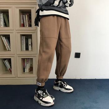 Мъжки спортно-ежедневен панталон в кафяв цвят