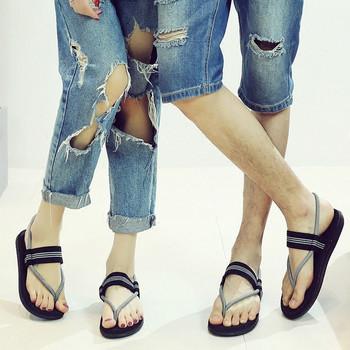 Ежедневни сандали в три цвята с равна подметка подходящи за мъже и жени