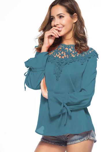 Дамска риза с бродерия в четири цвята