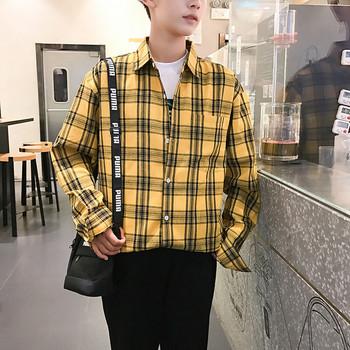 00956257e7a0 Σπορ-κομψό ανδρικό πουκάμισο σε κίτρινο και κόκκινο χρώμα - Badu.gr ...