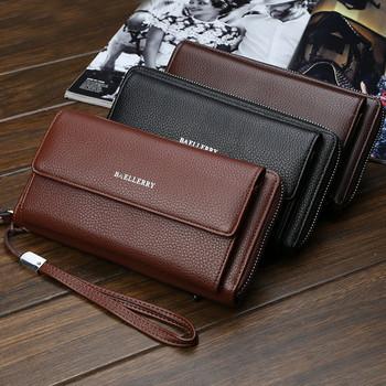 cbf987cb0c Μεγάλο ανδρικό πορτοφόλι με μπροστινή τσέπη και επιγραφή σε διάφορα χρώματα