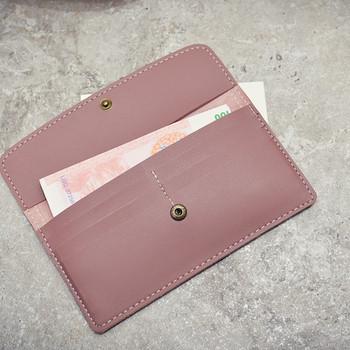 Γυναικείο καθημερινό πορτοφόλι σε διάφορα χρώματα από οικολογικό δέρμα
