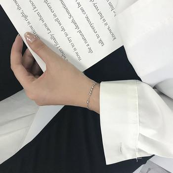 Дамска стилна гривна в сребрист цвят