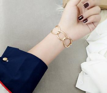 Дамска ежедневна гривна в сребрист и златист цвят