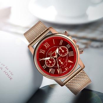 Нов модел дамски метален часовник в различни цветове