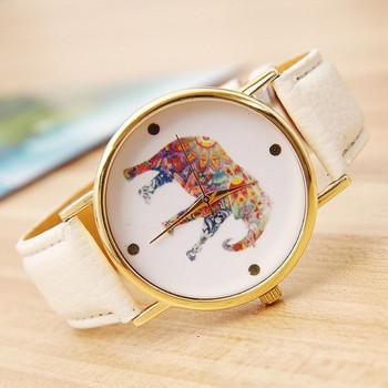 Модерен дамски часовник с каишка от еко кожа и камъни -няколко модела
