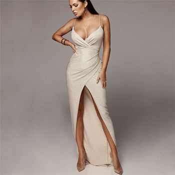 06f07de20f3a Κομψή κυρίες φόρεμα μακρύ μοτίβο με σχισμή σε διάφορα χρώματα - Badu ...