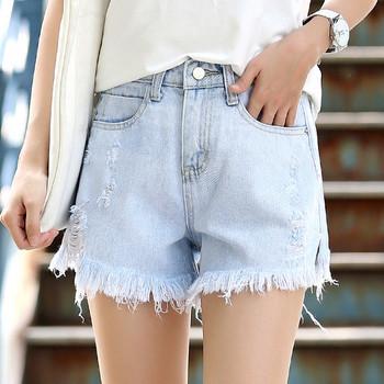 Модерни дамски панталони с висока талия и джобове