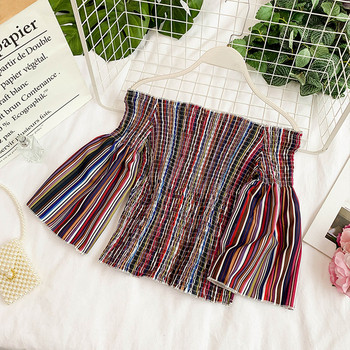 Еластична дамска блуза с паднали ръкави в няколко цвята