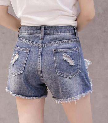 Дамски модерни панталони с перли и 3D елемент